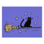 Tarjeta de la invitación del gato de la bruja