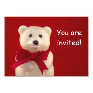 Tarjeta de la invitación del oso de peluche