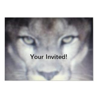 Tarjeta de la invitación del puma