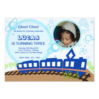 Tarjeta de la invitación del tren de Choo Choo