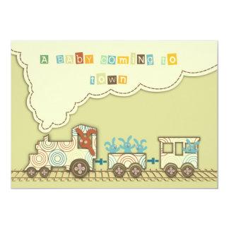 Tarjeta de la invitación del tren de Choo Choo Invitación 12,7 X 17,8 Cm