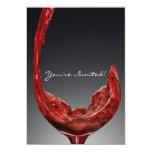 Tarjeta de la invitación del vino