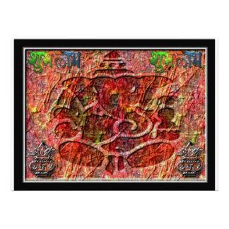 Tarjeta de la invitación Ganesha2