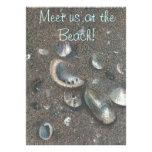 tarjeta de la invitación para la playa