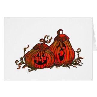 Tarjeta de la Jack-O-Linterna de Halloween
