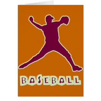 Tarjeta de la jarra del béisbol