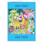 Tarjeta de la jirafa