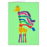 Tarjeta de la jirafa del navidad