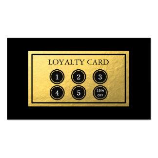Tarjeta de la lealtad de la hoja de oro tarjetas de visita