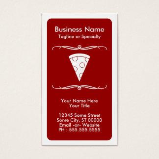 tarjeta de la lealtad de la pizza de la MOD