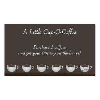 Tarjeta de la lealtad de los ahorros del café tarjetas de visita