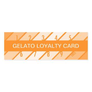 tarjeta de la lealtad del gelato retrógrada tarjetas de visita