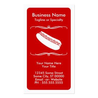 tarjeta de la lealtad del perrito caliente de la tarjetas de visita