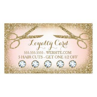 Tarjeta de la lealtad del salón de pelo 311 tarjetas de visita