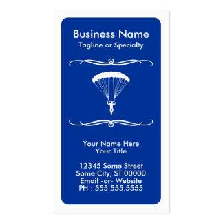 tarjeta de la lealtad del skydiver de la MOD Tarjetas De Visita
