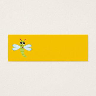 Tarjeta de la libélula tarjetas de visita mini