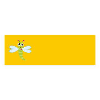 Tarjeta de la libélula tarjetas personales