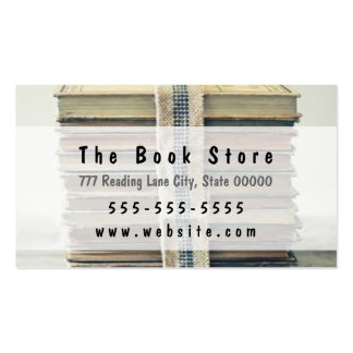 Tarjeta de la librería tarjetas de visita
