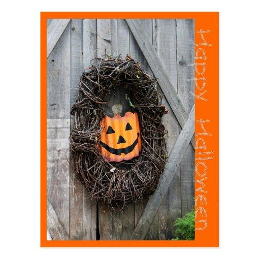 Tarjeta de la linterna de Halloween Jack O Postales