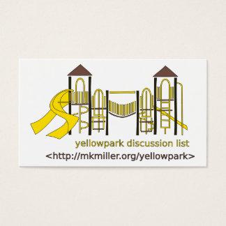 Tarjeta de la lista de discusión de Yellowpark Tarjetas De Visita