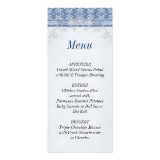 Tarjeta de la lista del menú del damasco de la rec tarjetas publicitarias a todo color