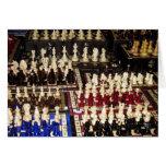 Tarjeta de la locura de los tableros de ajedrez