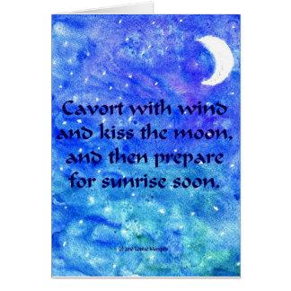 Tarjeta de la luna
