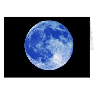 Tarjeta de la luna azul