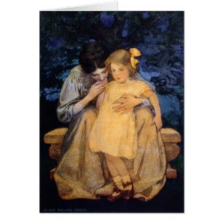 """Tarjeta de la """"madre y del niño"""" de Willcox -"""