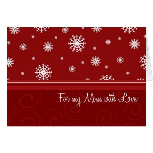 Tarjeta de la mamá de las Felices Navidad