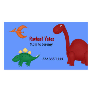 Tarjeta de la mamá de los dinosaurios de la tarjetas de visita