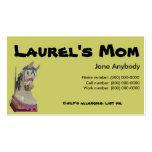 Tarjeta de la mamá del caballo del carrusel plantillas de tarjetas personales