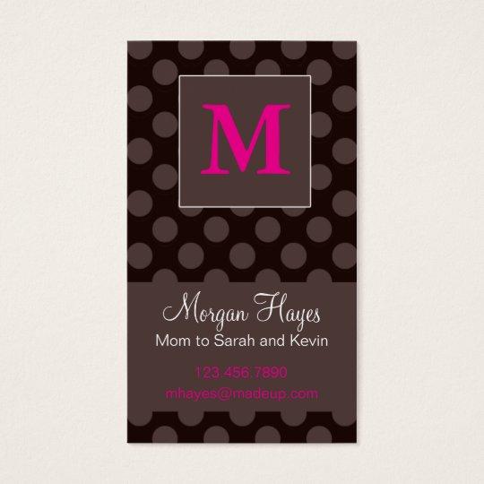 Tarjeta de la mamá del chocolate