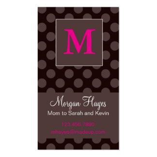 Tarjeta de la mamá del chocolate tarjeta de visita