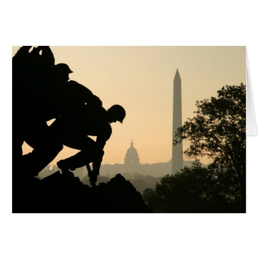 Tarjeta de la mañana de Iwo Jima