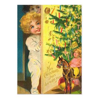 """Tarjeta de la mañana de navidad invitación 4.5"""" x 6.25"""""""