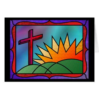 Tarjeta de la mañana de Pascua
