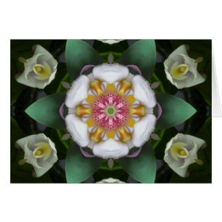 Tarjeta de la mandala de los ángeles de la orquíde
