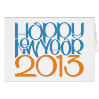 Tarjeta de la mandarina del azul de la Feliz Año N
