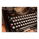 Tarjeta de la máquina de escribir del vintage