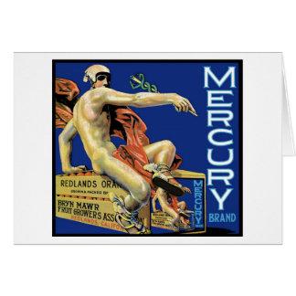 Tarjeta de la marca de Mercury