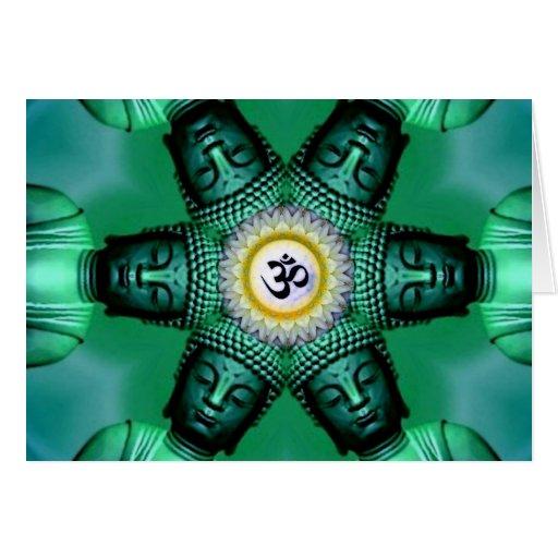 Tarjeta de la margarita de Buda OM