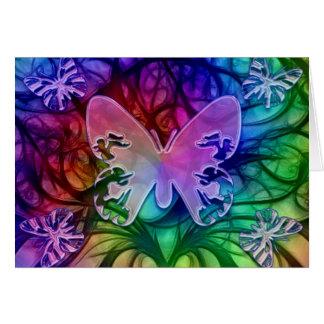 Tarjeta de la mariposa 1