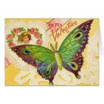 Tarjeta de la mariposa de la tarjeta del día de