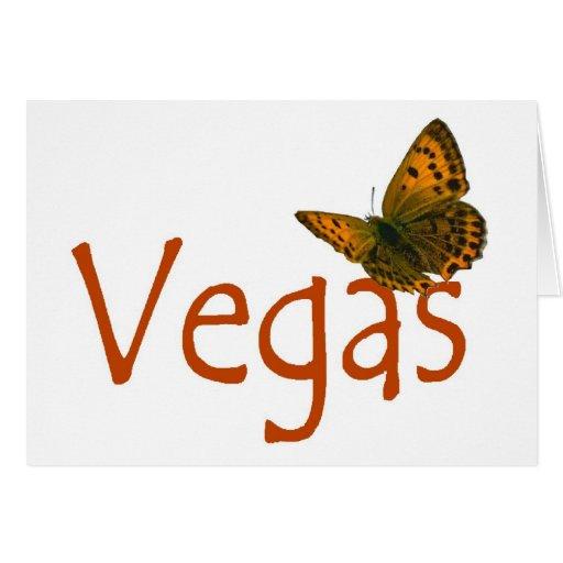 Tarjeta de la mariposa de Vegas