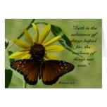 Tarjeta de la mariposa del 11:1 de los hebreos