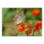 Tarjeta de la mariposa del feliz cumpleaños