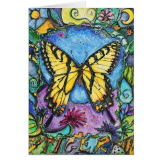 Tarjeta de la mariposa del tigre de PMACarlson