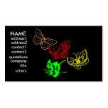 tarjeta de la mariposa tarjetas de visita
