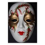 Tarjeta de la máscara de la mascarada